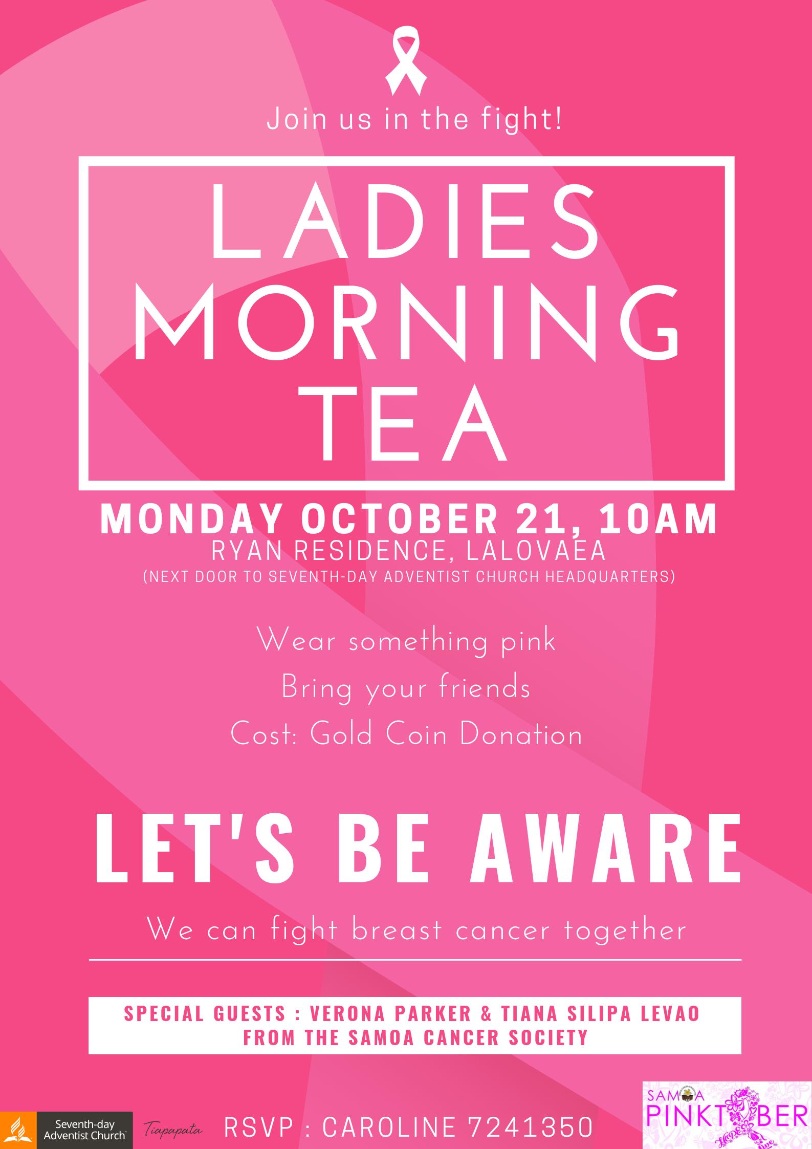ladies morning tea